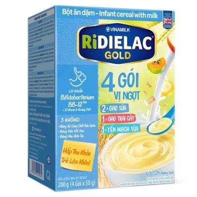 Bột ăn dặm cho bé Ridielac Gold 3 Vị Ngọt HG 200g